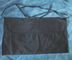 Server Black 3-Pocket Polyester Apron