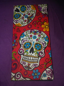 Red Sugar Skull Wonder Wallets & Server Books