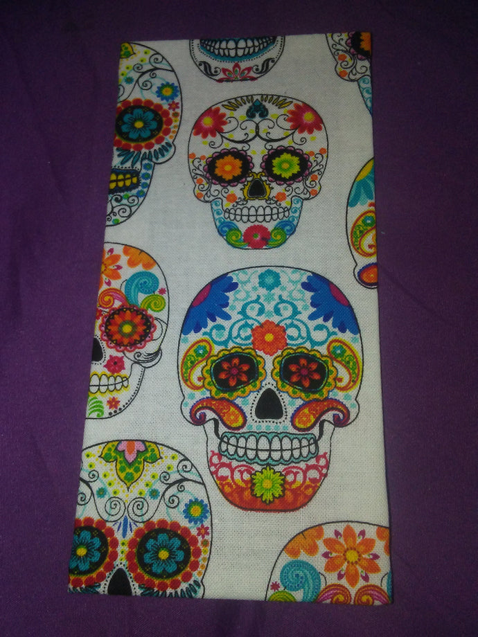 Sugar Skull on White Wonder Wallets & Server Books
