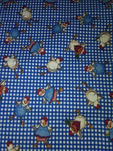 Chickens on Blue Plaid Wonder Wallets & Server Books