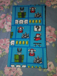 Lt. Blue Mario Wonder Wallets & Server Books