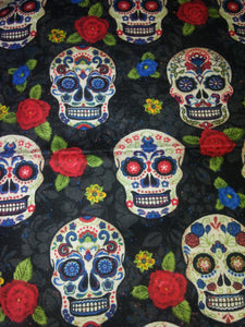 Sugar Skull w\Flowers Wonder Wallets & Server Books