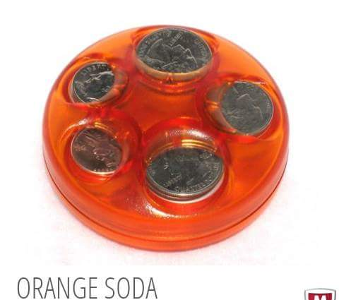 Orange Soda Coin Dispenser