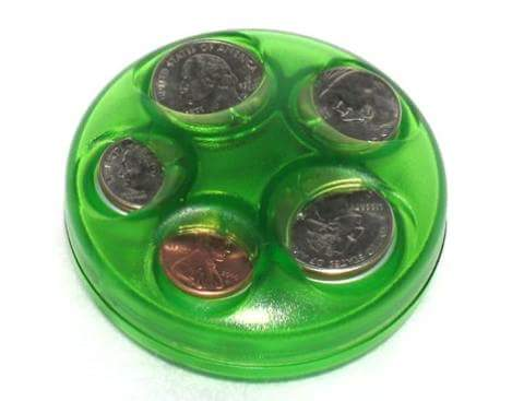Lime Green Coin Dispenser