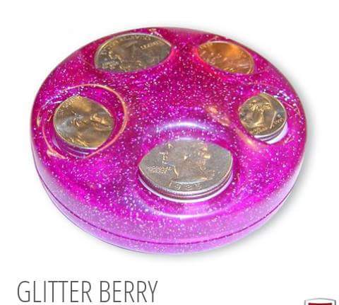 Glitter Berry Coin Dispenser