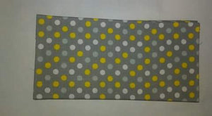 Gray w\Yellow & White Polka Dots Wonder Wallets
