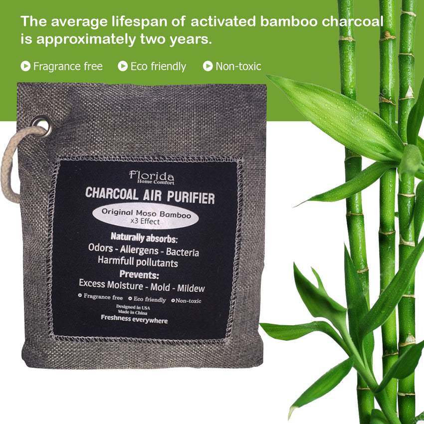 Bamboo Charcoal Air Purifying Bag (6 Pack)