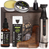 Beard Kit with Beard Oil,  Balm,  Comb,  Nose & Ear Trimmer, Scissors
