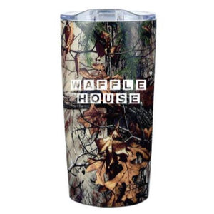20 oz Realtree Himalayan Tumbler with the Waffle House logo.