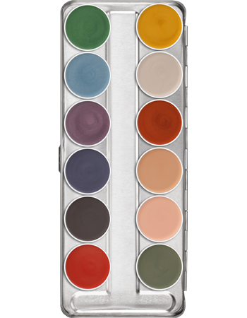 Kryolan Aquacolor Interferenz 12 Colour Palette