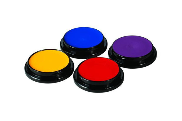 A selection of four Ben Nye Creme Colours for face and body painting.