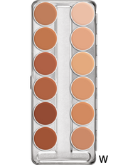 Kryolan Rubber Mask Grease Palette 12 Colours