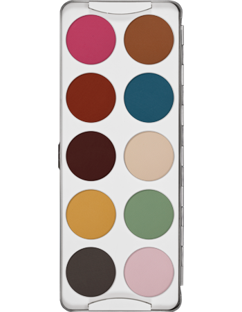 Kryolan Classic Eye Shadow 10 Colour Palette