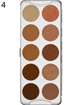 Alcohol based makeup paint palette in skin tones