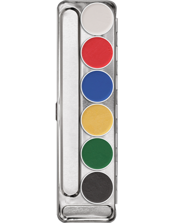 Kryolan Aquacolor Interferenz 6 Colour Palette