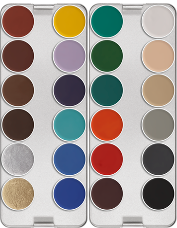 Kryolan Aquacolor 24 colour palettes