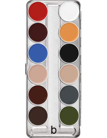 Mixed colours Supracolour face and body paint 12 palette: Variation B