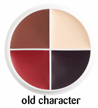 Small old character wheel for aging fair skin