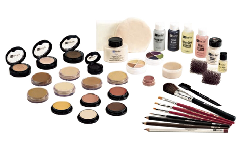 Contents of master film and video makeup kit