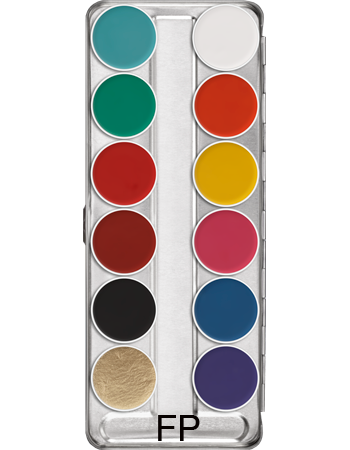 Kryolan Aquacolor palette 12 colours