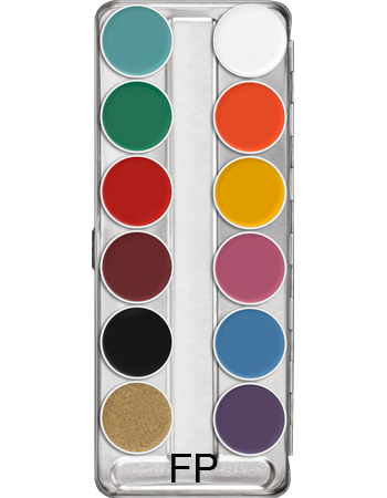 Bright colours Supracolour face and body paint 12 palette: Variation FP