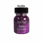 fuschia glitter in a dark pink