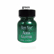 bright emerald green liquid glitter