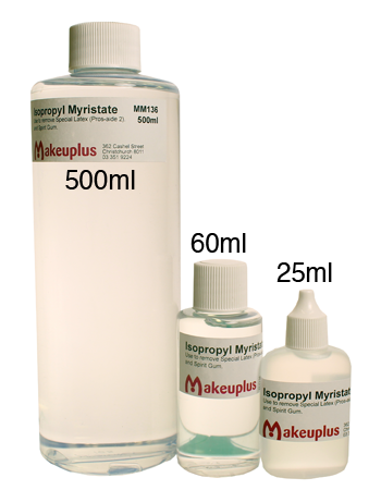 A comparison of the different sizes of Isoprpyl Myristate available from Minifies