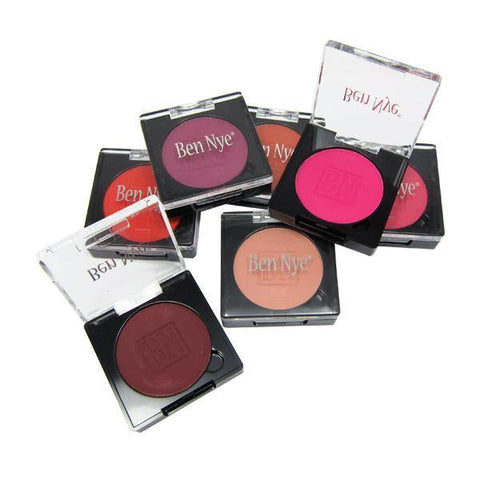 A selection of shades of powder blush