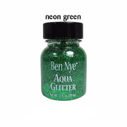 bright green liquid glitter
