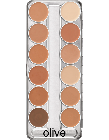 Kryolan Ultra Foundation Palettes 12 Colours