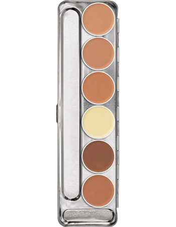 Kryolan Ultra Foundation Palette 6 Colours