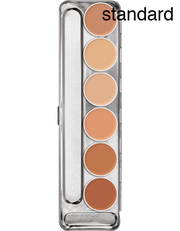 Greasepaint special effects makeup 6 palette in shade selection Standard (skin colour)