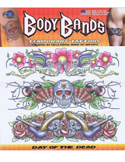 Day of the dead arm band fake tattoos