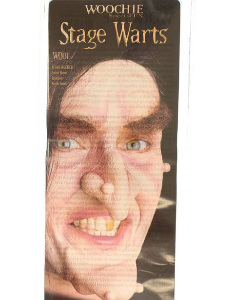 Stage Warts with Halloween prosthetic appliance