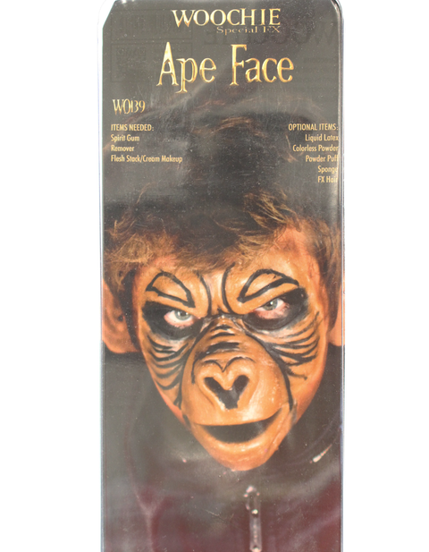 Ape Face Halloween SFX prosthetic