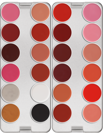 Kryolan Lip Rouge 24 Colour Palette