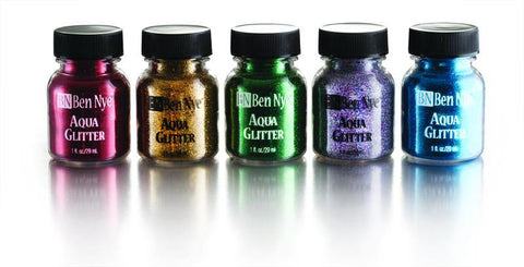 a variety of liquid glitter colours