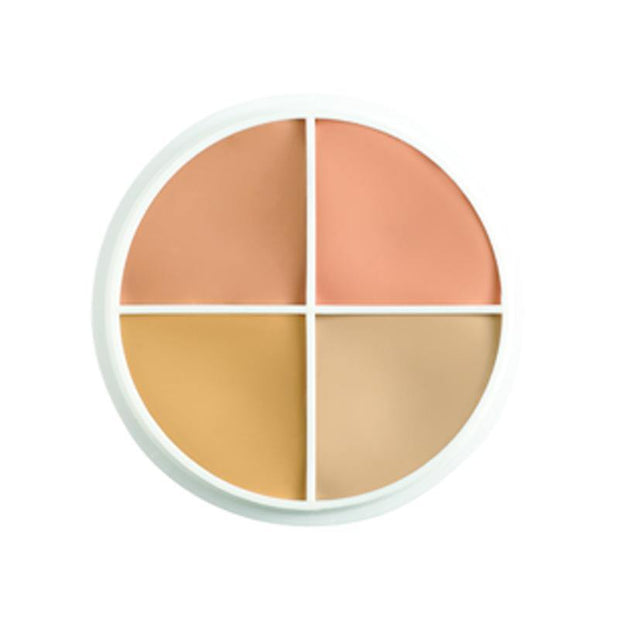 concealer circle that includes mellow yellow, mellow orange, beard cover and neutraliser shades.