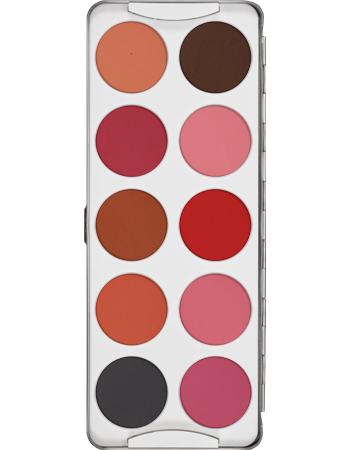 Kryolan Blusher palette 10 colours