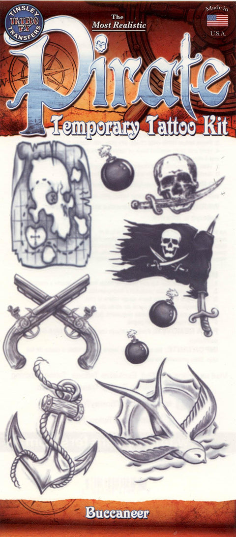 Pirate Kit - 'Buccaneer' Temporary Tattoo FX