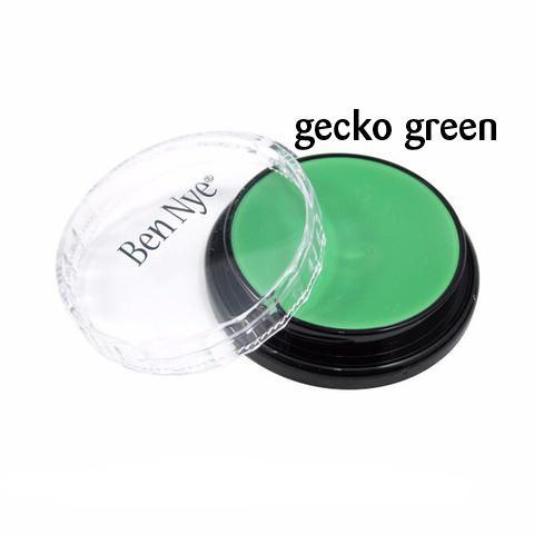 Ben Nye Creme Colors for Face and Body Painting in Gecko Green