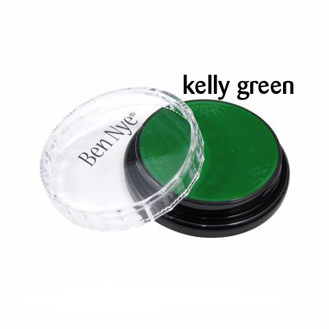 Ben Nye Creme Colors for Face and Body Painting in Kelly Green