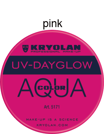 Kryolan Aquacolor UV-Dayglow 8ml and 30ml