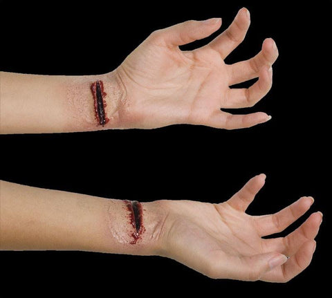 Slashed Wrists gory Halloween SFX
