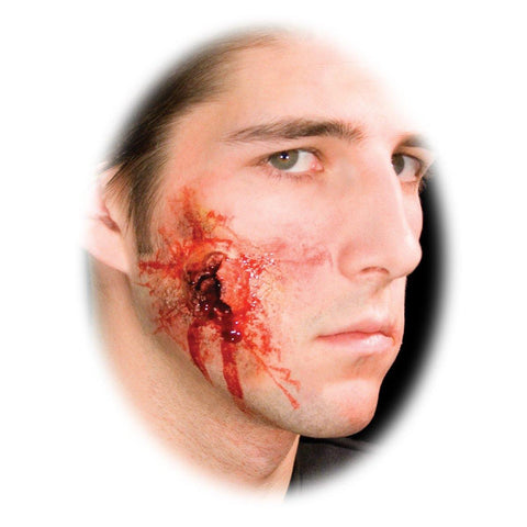 Bullet shot Exit Wound injury Halloween prosthetic