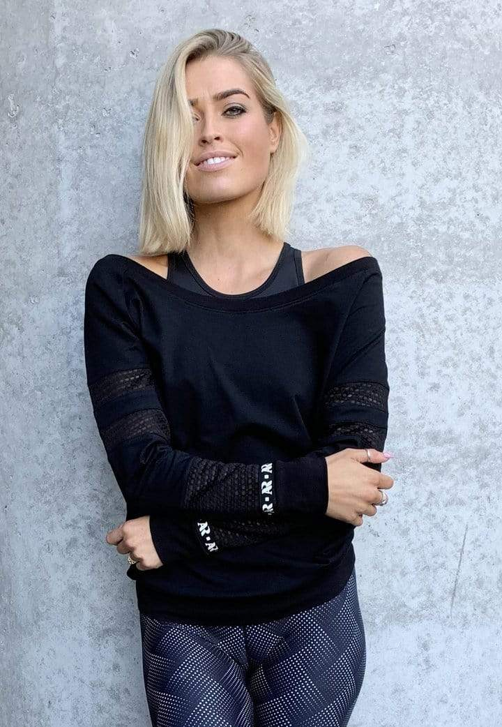 Akia Rose Activewear Jumper Whitsundays Jumper - Black