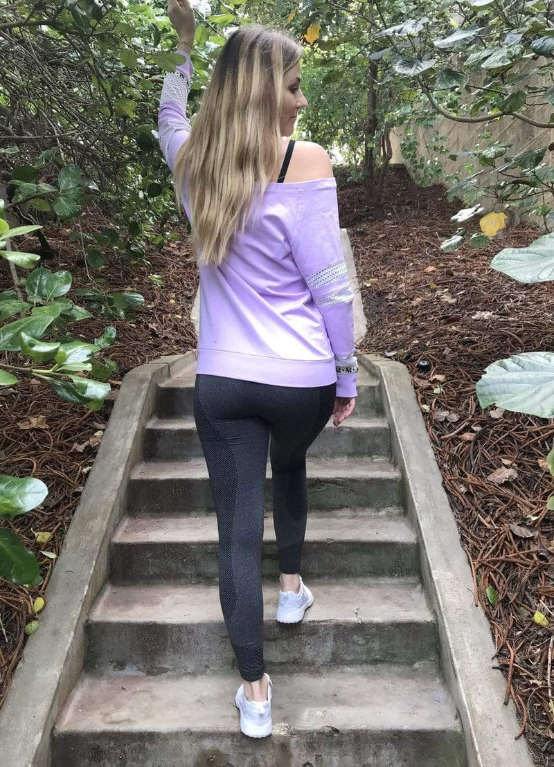 Akia Rose Activewear Jumper Whitsundays Jumper - Iced Lilac