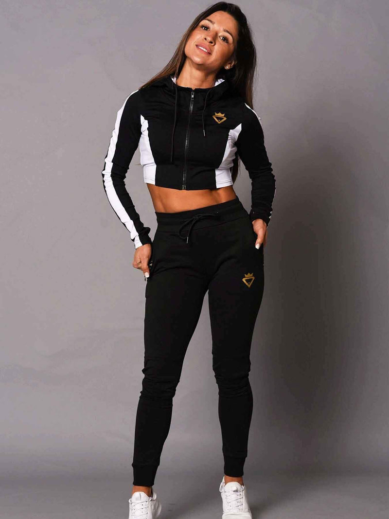 Beast & Beauty - Activewear + Gym Gear Crop Zipup Jacket - Black