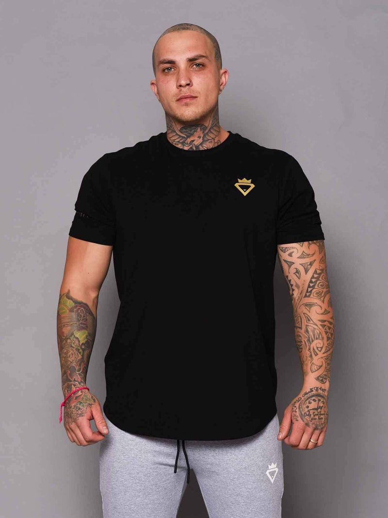 Beast & Beauty - Activewear + Gym Gear Mens Aesthetic Tshirt - Black